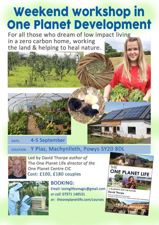 One Planet Development workshop poster