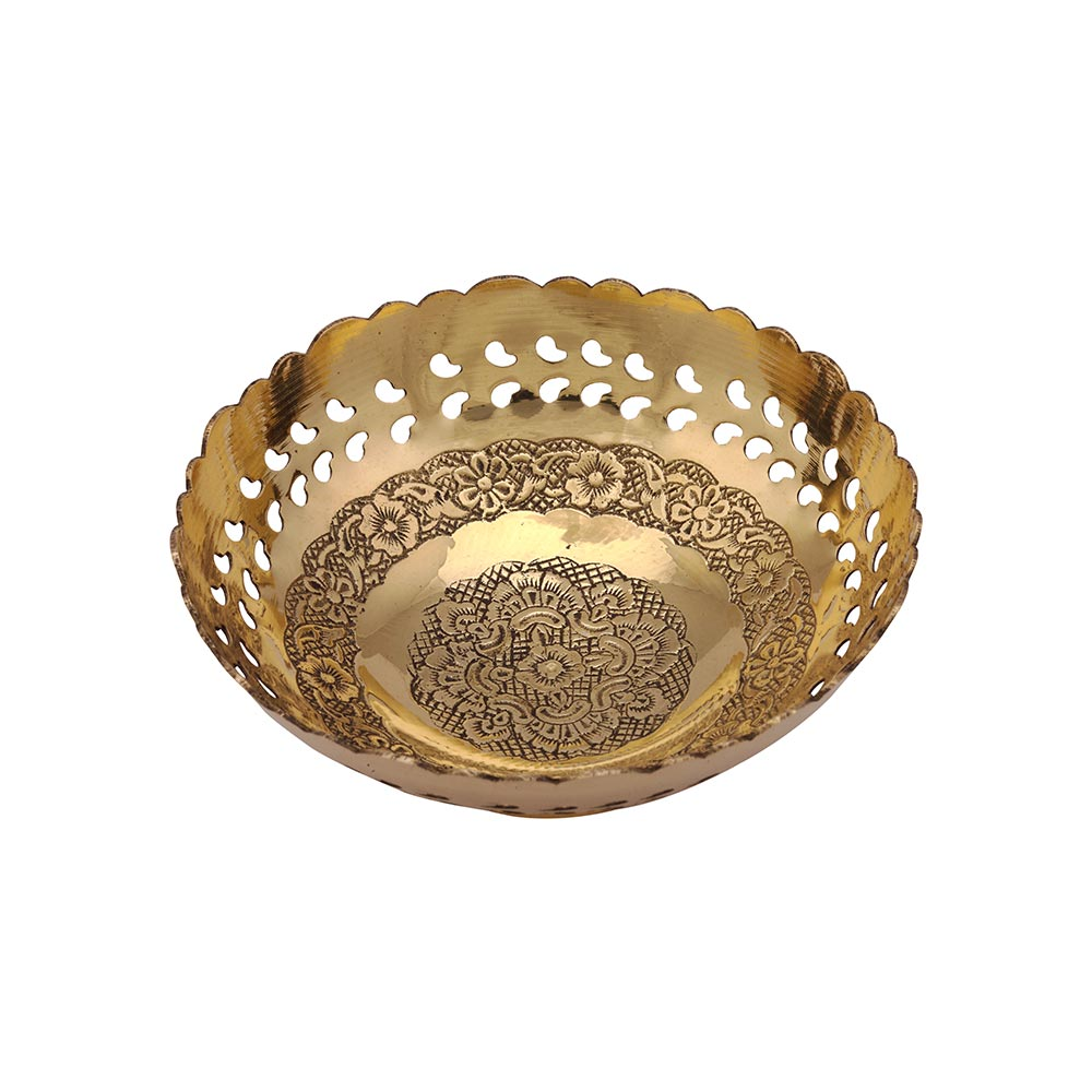 Brass Fruit Bowl (5 Inches) - The One Shop - Return Gifts and More
