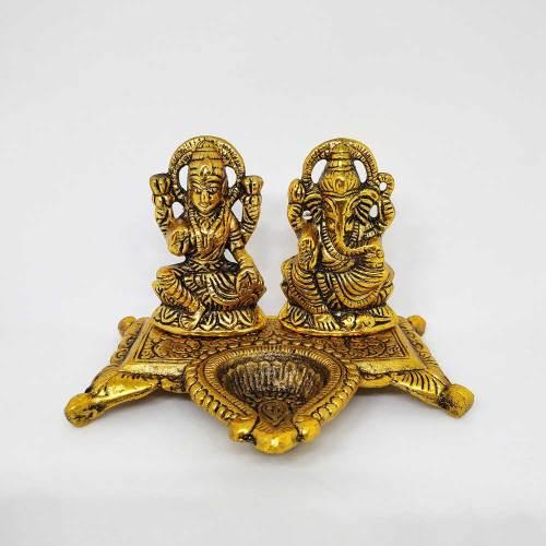 Lakshmi Ganesh Diya (Gold)