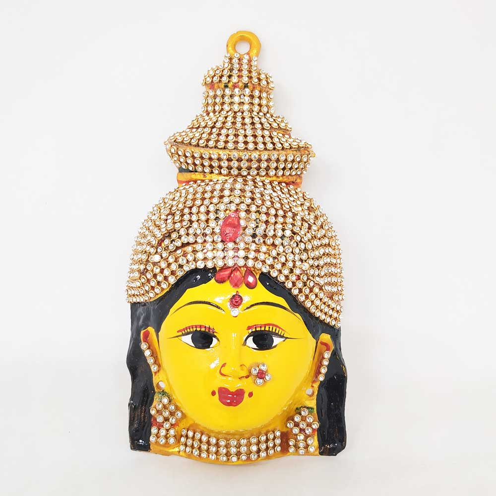 Goddess Lakshmi Face Small - White Stone - The One Shop - Return Gifts and  More
