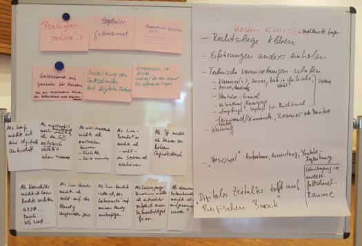 Workshopergebnisse auf Pinnwand