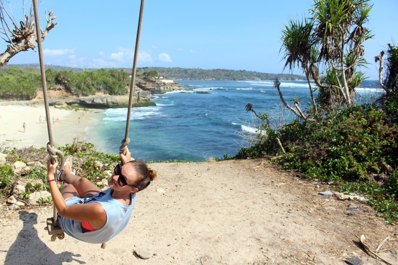 Swing Close To The Dream Beach Nusa Lembongan Island