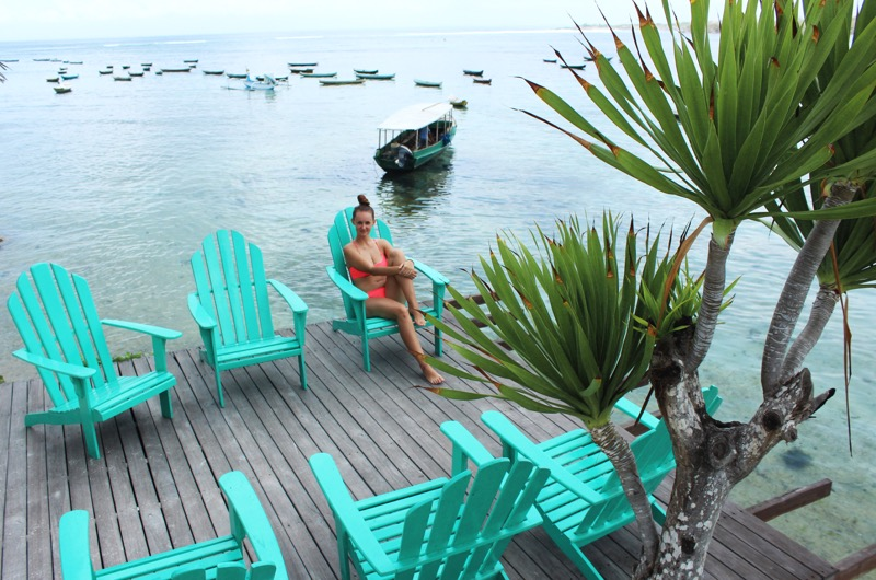 Relax in Le Pirate Beach Club Nusa Ceningan