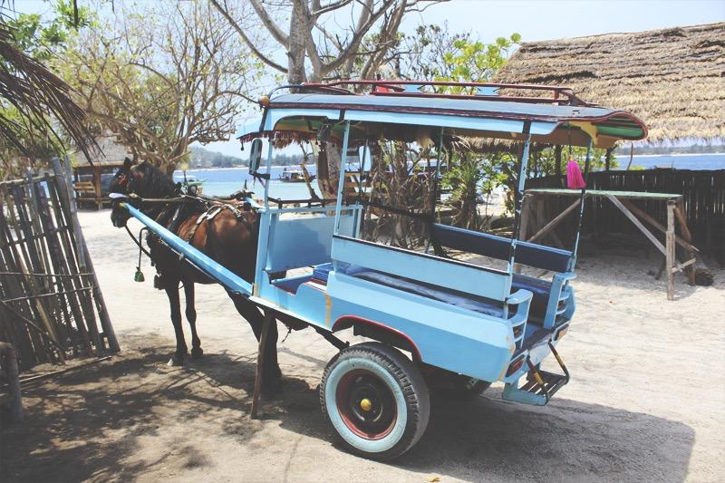 Horse taxi Gili Air