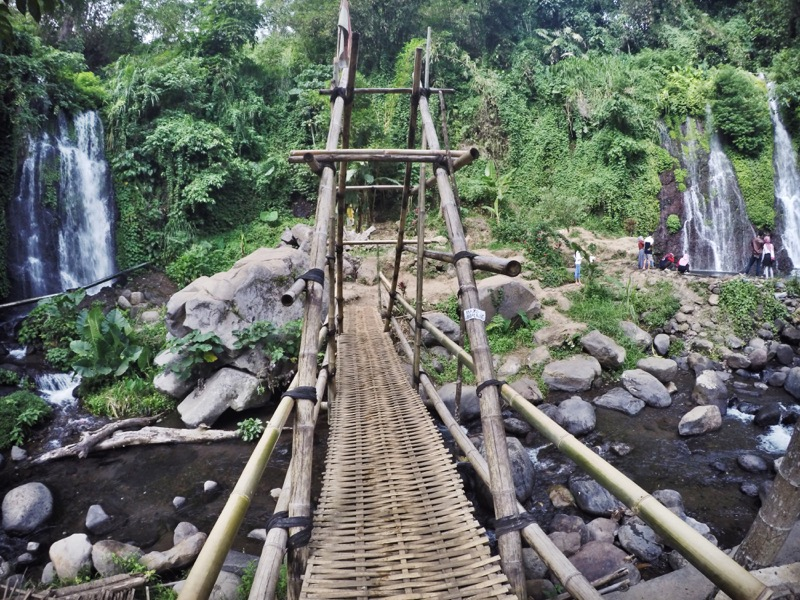 A bamboo bridge and Jagir waterfall