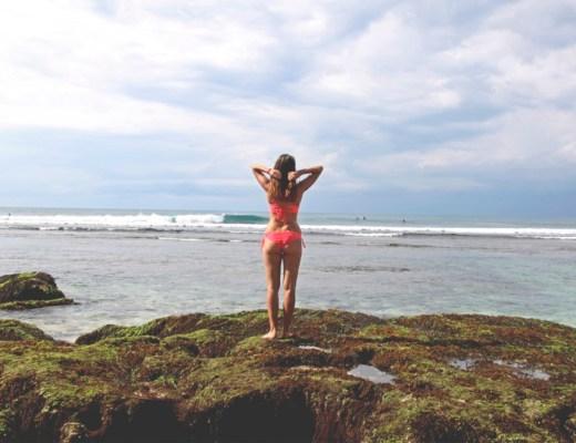 Blue Point beach at Uluwatu, Bukit peninsula, Bali