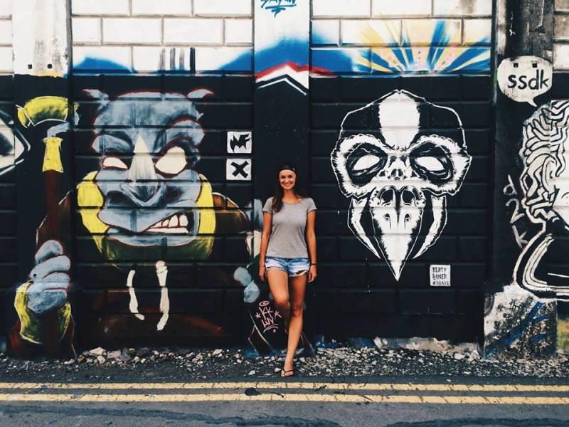 Graffiti Art v uliciach Kota Kinabalu