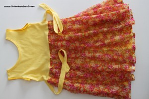 Yellow spring dress 2