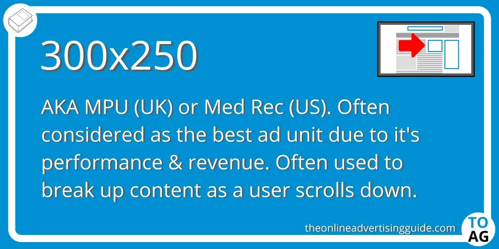 300x250 (MPU or Med Rec) | The Online Advertising Guide