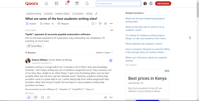 Direct_Clients Quora_Strategy