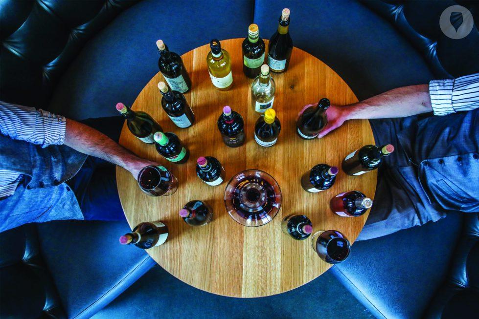 Fysieke wijnproeverij