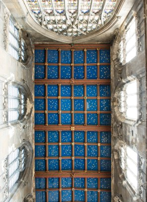 The ceiling of one of the chapels in St Mary's Church, Beverley