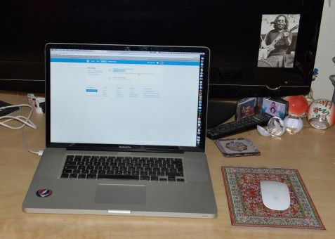 My desk was never this untidy when I was working