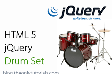 jQuery Drum sets – HTML5 Audio tag example!