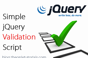 Very Simple jQuery Validation with custom error message!