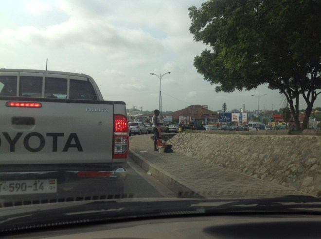 Traffic around Accra mall - The Only Way Is Ghana