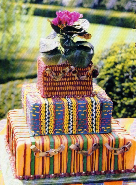 kente cake - the only ways is ghana