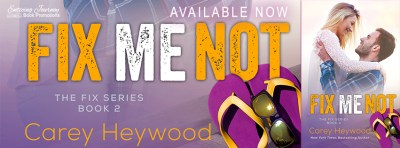 #NewRelease #Giveaway Fix Me Not by Carey Heywood