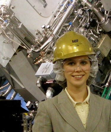 Svoboda on a research trip to the National Ignition Facility in Livermore, CA.