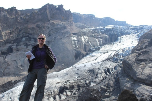 On a geology field trip to Eyjafjallajökull volcano, Iceland.