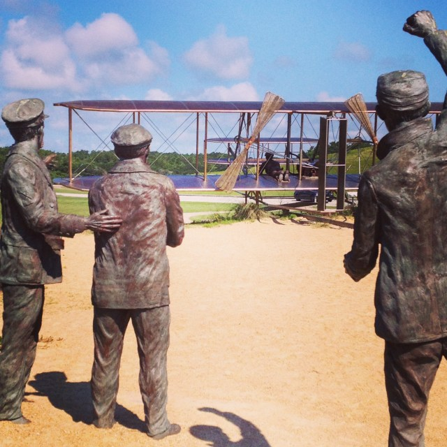 Wright Bros. Memorial statue