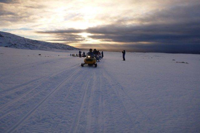 iceland glacier snowmobile