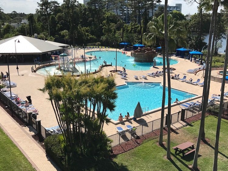 The closest hotel to Disney Springs is the Wyndham Garden Lake Buena Vista