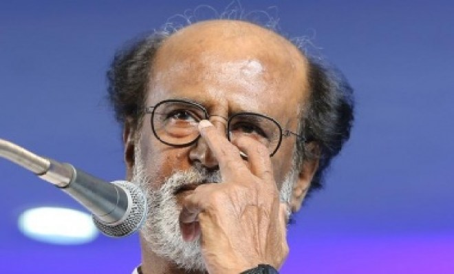 Actor Rajinikanth addresses after announcing the launch of his political party in Chennai