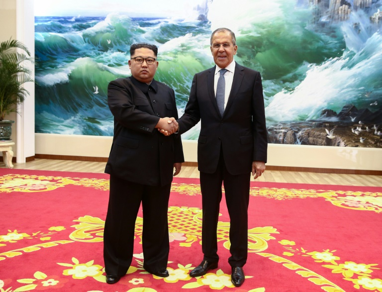 Foreign Minister Sergei Lavrov in Pyongyang invited North Korean leader Kim Jong Un to visit Russia