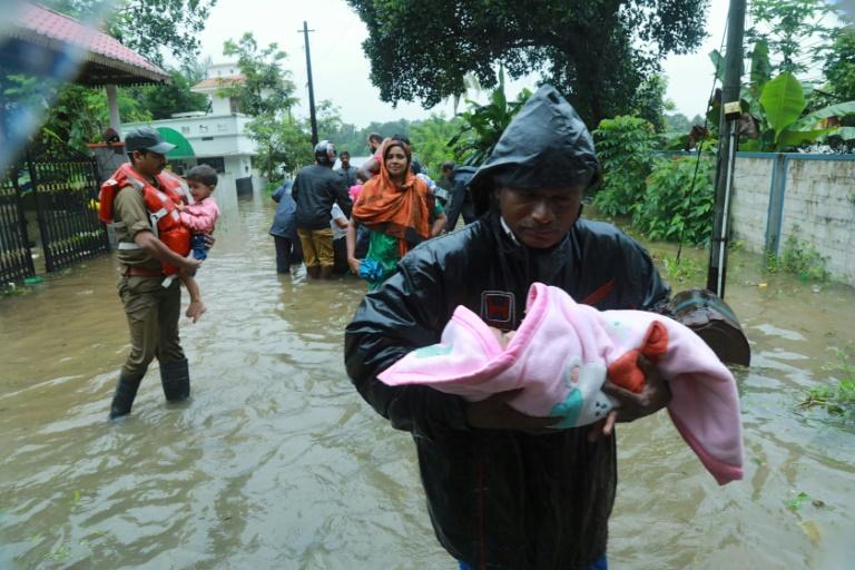 Flood in Kerala-afp