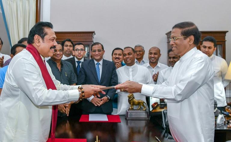 Former Sri Lankan president Mahinda Rajapakse-afp