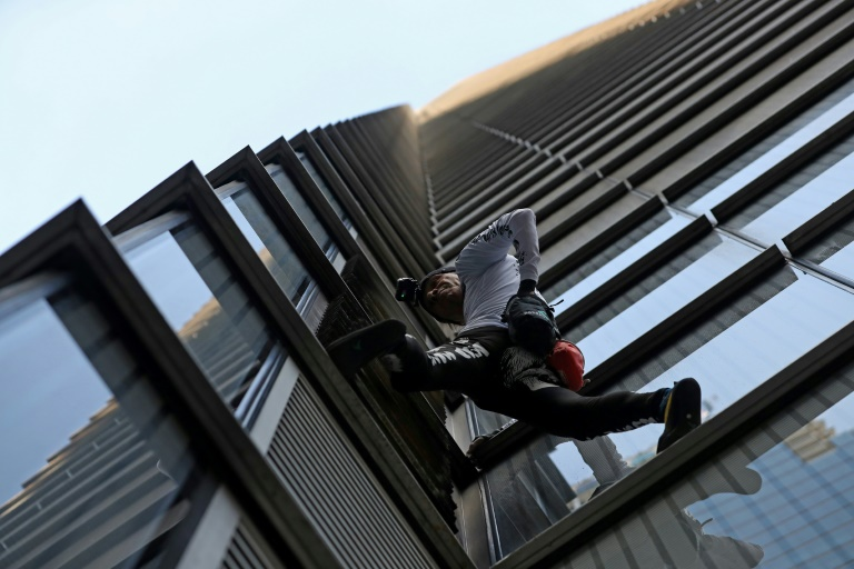 French urban climber Alain Robert, also known as Spider-Man-afp