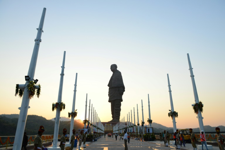 Indian officials were concerned that community groups could stage protests to demand compensation for land taken to erect the Statue of Unity-AFP