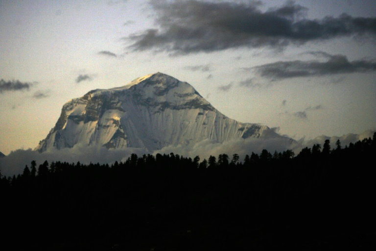 Mount Gurja lies next to the avalanche prone Dhaulagiri range-afp