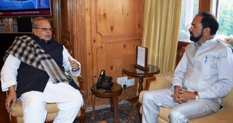 MP Nazir Laway calls on Governor-inf