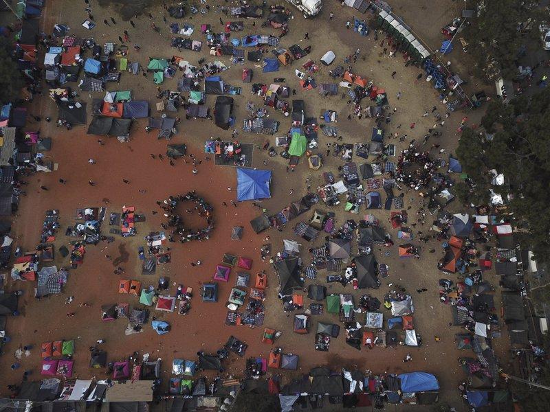 Migrants march to border in Tijuana-- AP