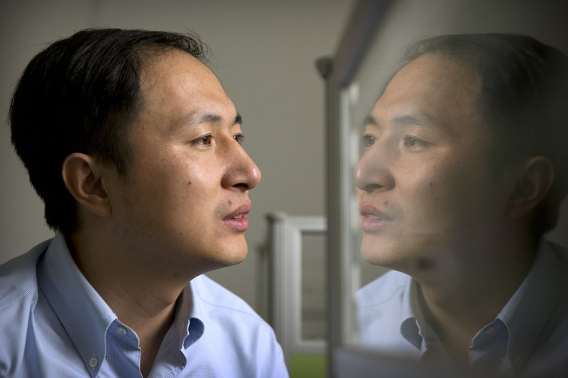 A Chinese researcher claims that he helped make the world's first genetically edited babies -AP