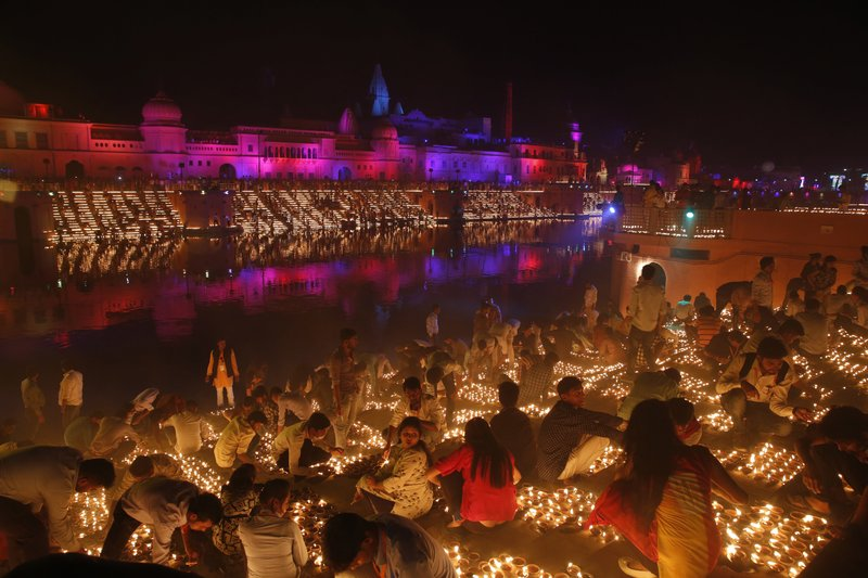The northern Indian city of Ayodhya broke a Guinness World Record -AP