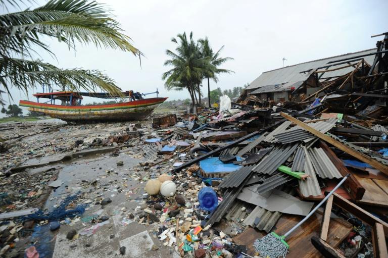 tsunami-struck towns- AP