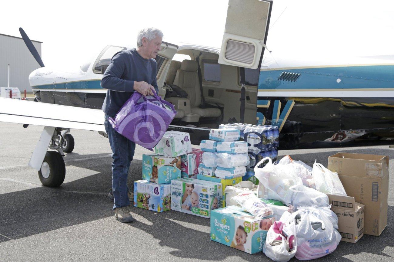 'Angels of the sky' offer flights into flooded Nebraska city
