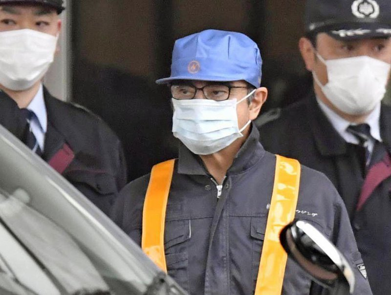 The Latest: AP journalists see Ghosn leave detention