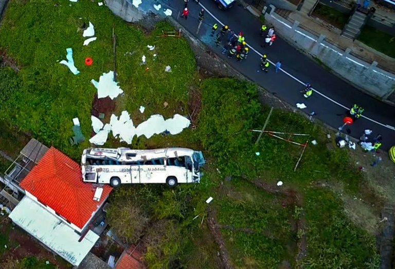 Madeira in mourning after 29 German tourists die in bus crash
