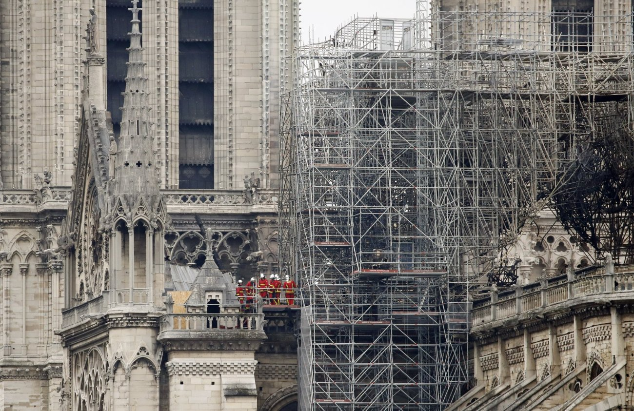 Fire out but much work ahead for destroyed Notre Dame