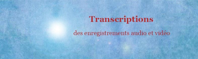 Bannière Transcriptions