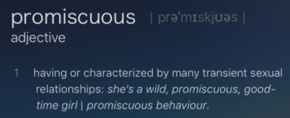 Because, naturally, men can't be promiscuous, right?