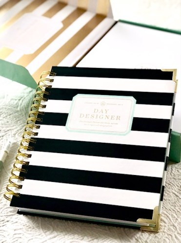 day designer review, 2019 flagship planner, black striped planner