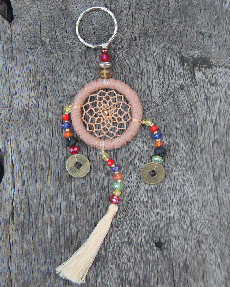 DREAM CATCHER KEY CHAIN: Soft Beige