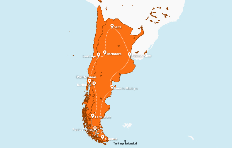 De perfecte reisroute voor Argentinië en Chili | The perfect itinerary for Argentina and Chile | The Orange Backpack