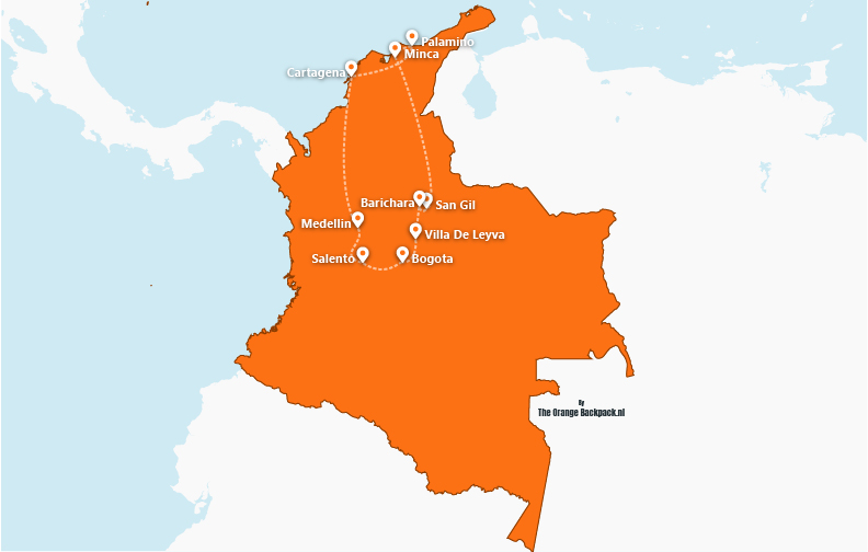 De perfecte reisroute voor Colombia | The perfect itinerary for Colombia | The Orange Backpack