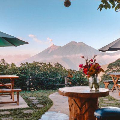 Terrace view | Earth lodge Antigua | The Orange Backpack